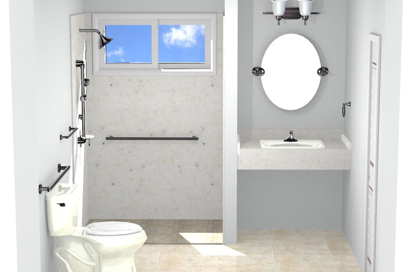 The aging in place bathroom for Aging in place house plans
