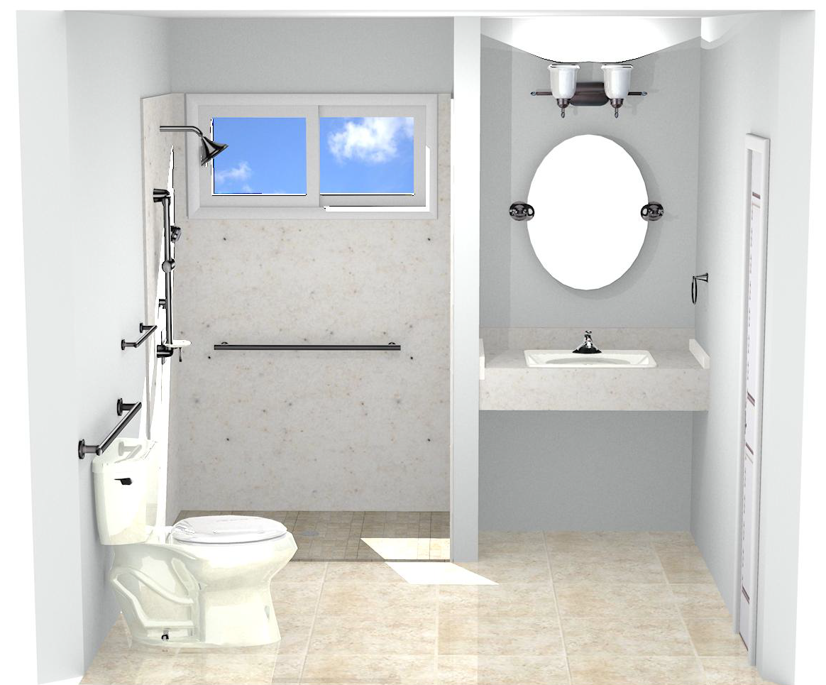 The aging in place bathroom for Aging in place home plans
